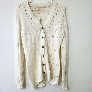 Quiksilver M Knit Button Up Cardigan Sweater M